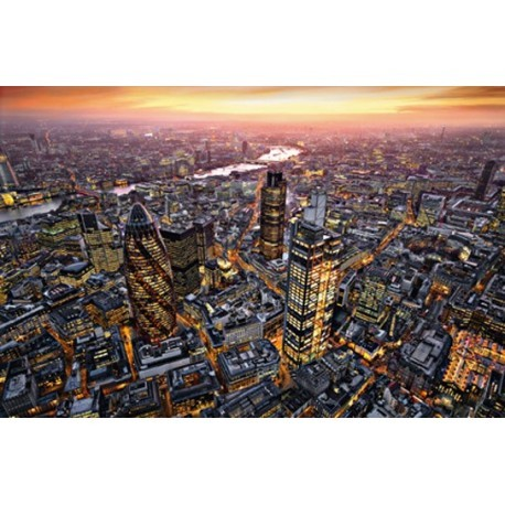 POSTER LONDON AERIAL VIEW  640