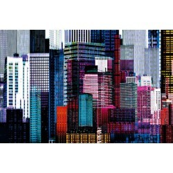 POSTER COLORFUL SKYSCRAPERS 641