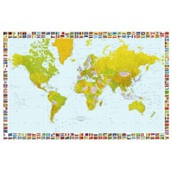 POSTER MAP OF THE WORLD 655
